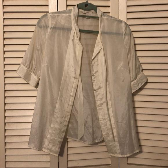 J. Crew Tops - Beautiful silk off white blouse